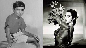 El artista infantil Joselito y Lola Flores.