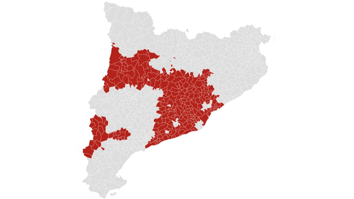 Aquests són els municipis en alerta per risc d'incendi forestal