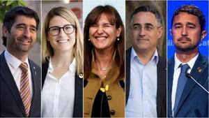 Jordi Puigneró, Elsa Artadi, Laura Borràs, Ramon Tremosa y Damià Calvet