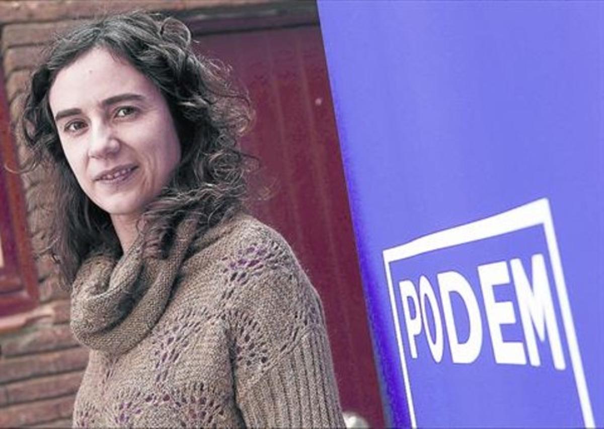 La líder de Podem Catalunya, Gemma Ubasart.