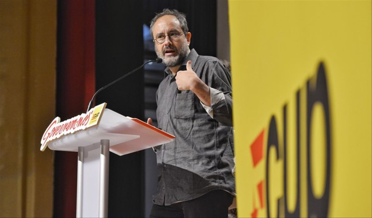 Antonio Baños valora los resultados de las elecciones, el pasado lunes, 28 de septiembre.