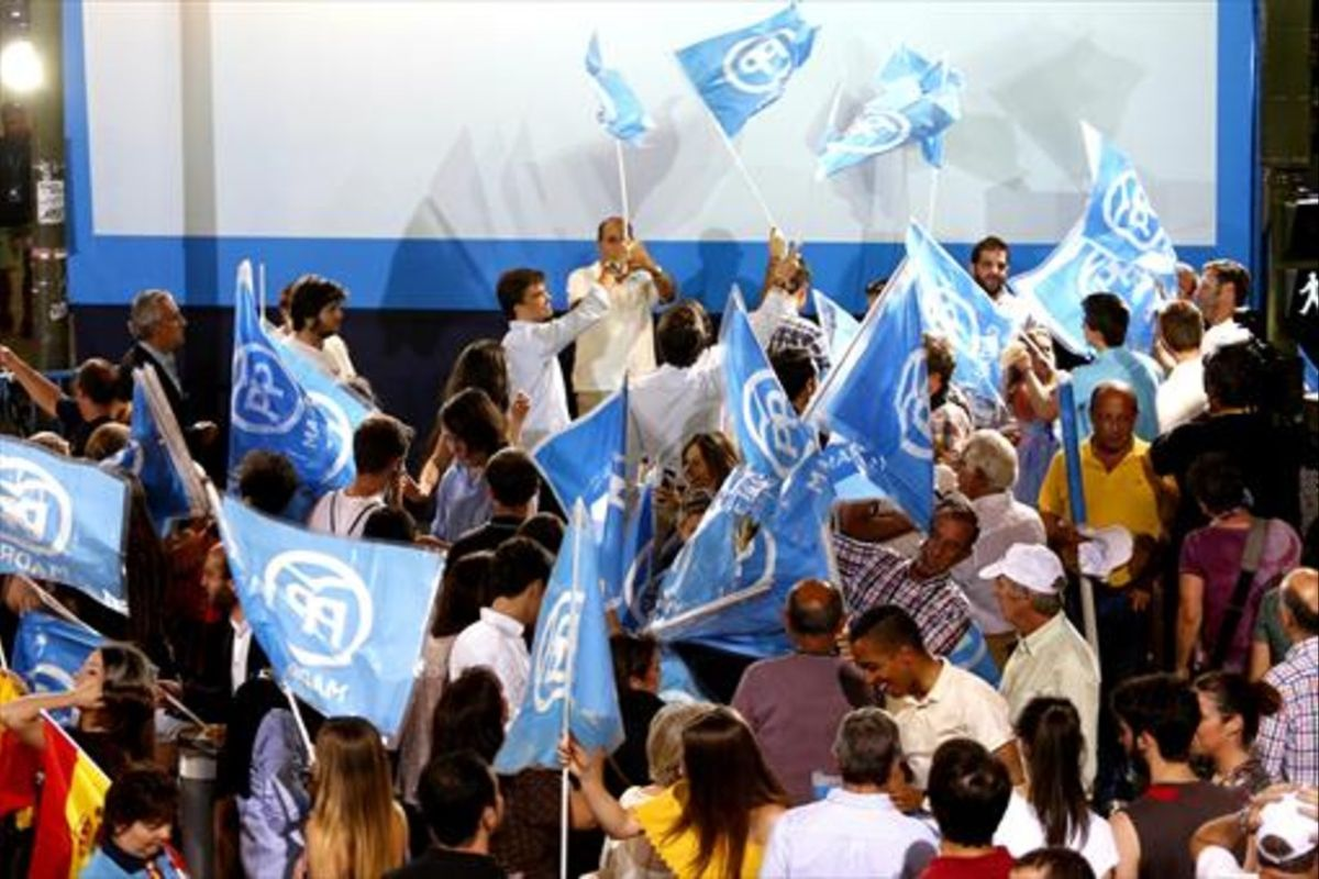 La noche electoral en la sede del Partido Popular.