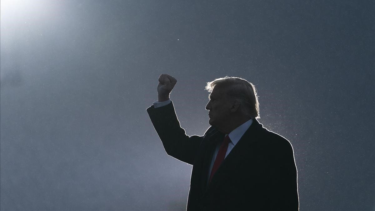 Trump, tras un mitin en Martinsburg (Pensilvania).