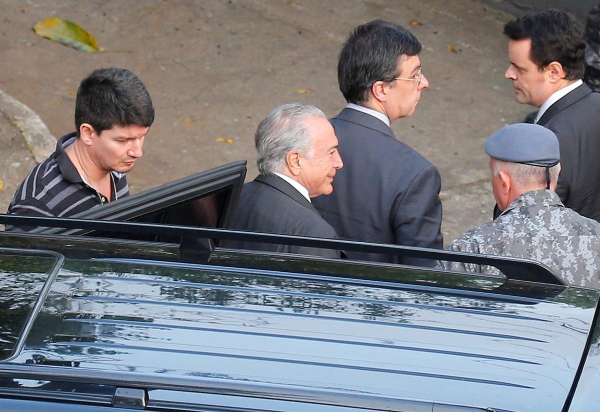 Michel Temer, expresidente de Brasil, es ingresado a una prisión de Sao Paulo.