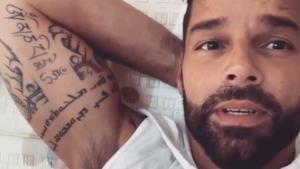 El cantante Ricky Martin, en un vídeo que ha subido a Instagram en agosto.
