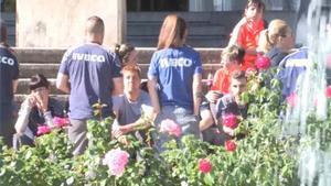 Trabajadores de Iveco, durante una concentración por la muerte de su compañera, en mayo de 2019.