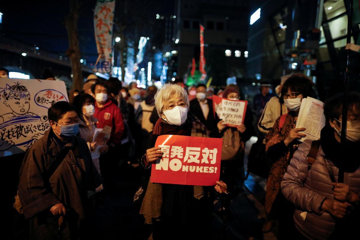 Una protesta en Tokio contra la energía nuclear a principios de marzo.