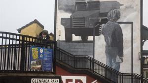 Un mural en el barrio católico de Bogside, en Londonderry.