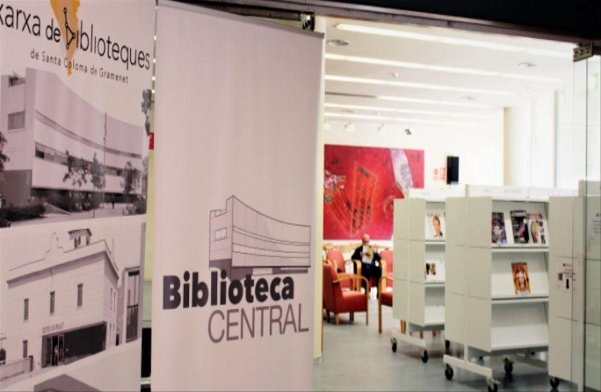 La Biblioteca Central de Santa Coloma de Gramenet.