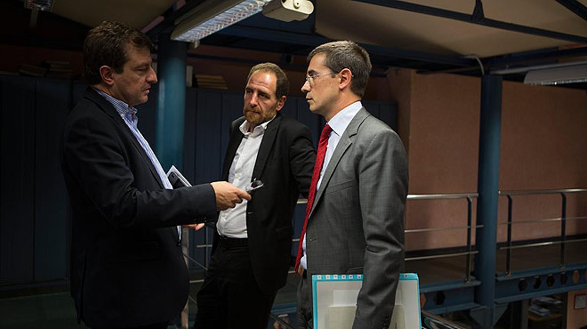 Ignasi Guardans y Amadeu Altafaj visitan la redacción de EL PERIÓDICO para debatir sobre la independencia de Catalunya.