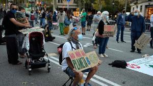 Manifestación de Fridays for Future en Barcelona, este viernes.