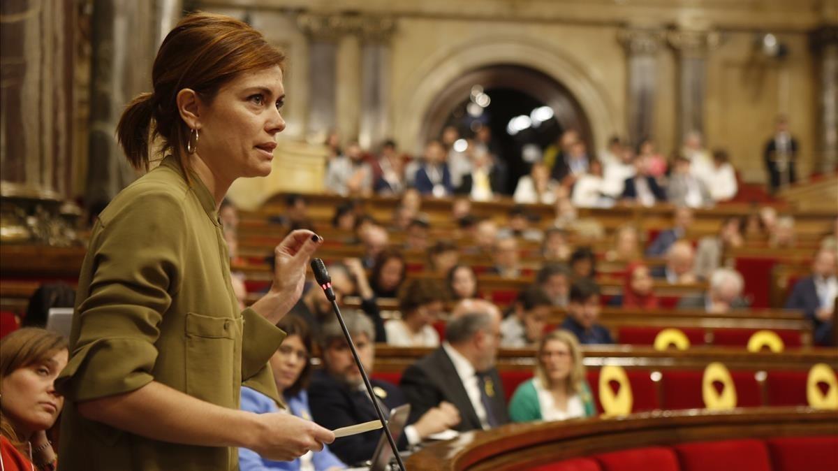 Elisenda Alamany durante la sesión plenaria.