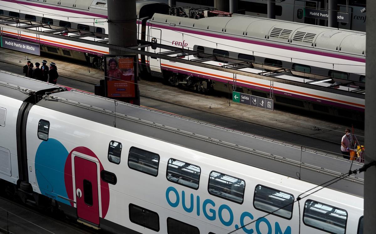 Trenes de Ouigo y de Renfe.