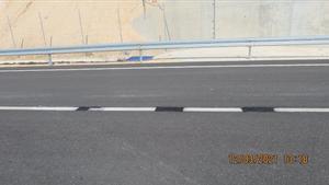 Las pintadas en la carretera.