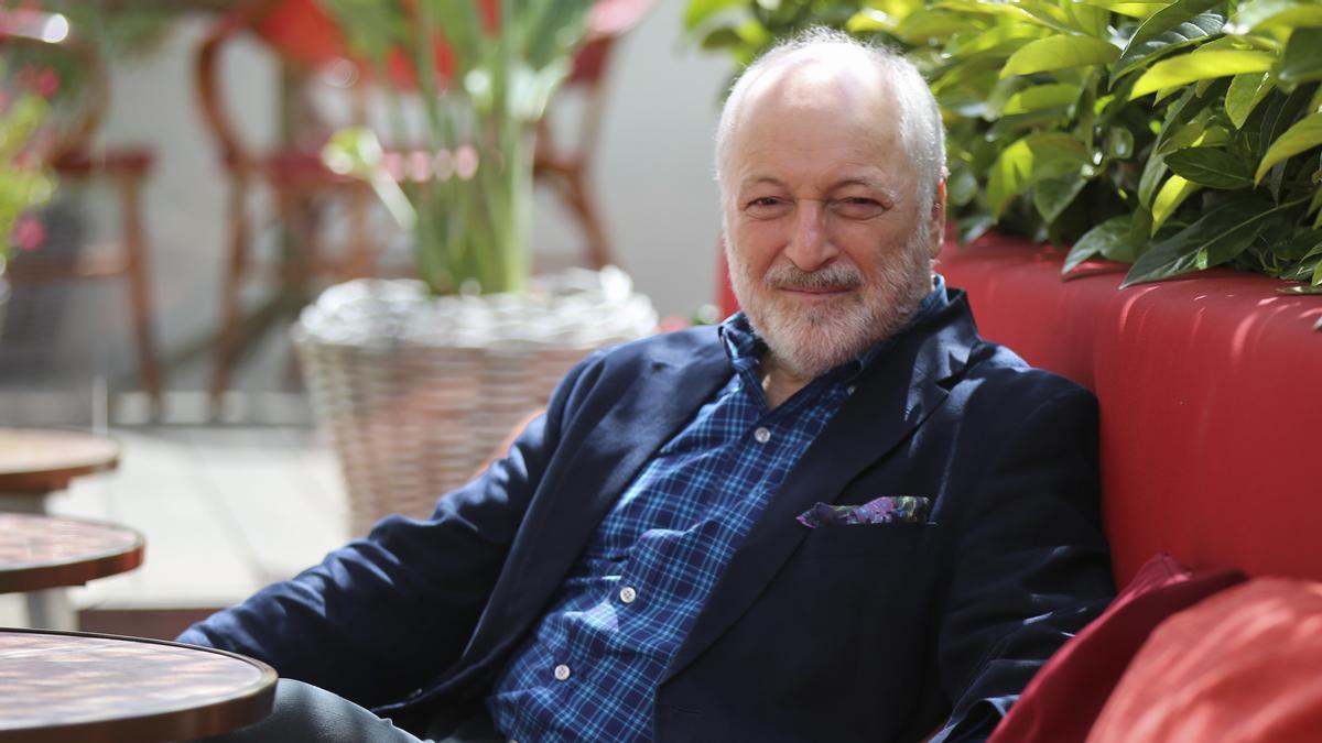 El escritor André Aciman, en su última visita a Barcelona.