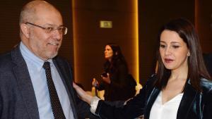 El vicepresidente de la Junta de Castilla y León y líder de la corriente crítica, Francisco Igea, y la ganadora de las primarias, Inés Arrimadas, el pasado 24 de febrero en Valladolid.