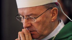 El exnuncio apostólico en Francia, el obispo Luigi Ventura, en una ceremonia religiosa en el 2010.