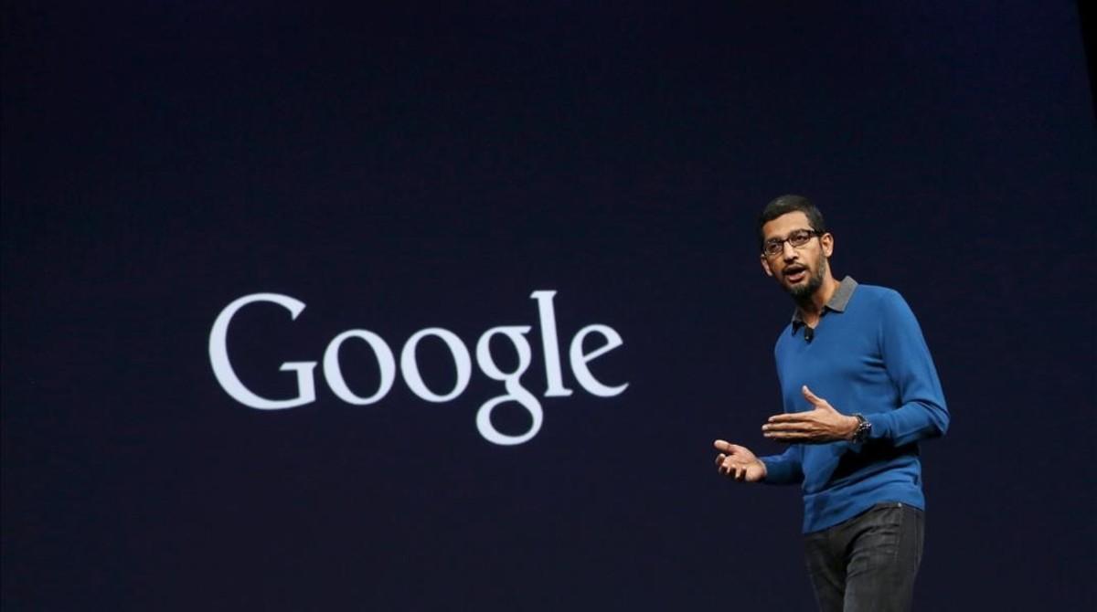 Sundar Pichai, actual director ejecutivo de Google, en una conferencia.