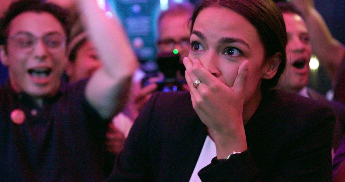 Alexandria Ocasio-Cortez, en una escena del documental 'A la conquista del Congreso'.