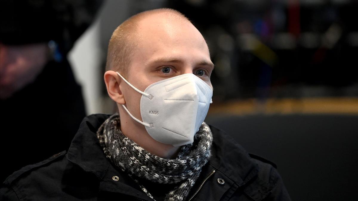 Stephan Balliet, durante el juicio por el atentado contra la sinagoga de Halle.