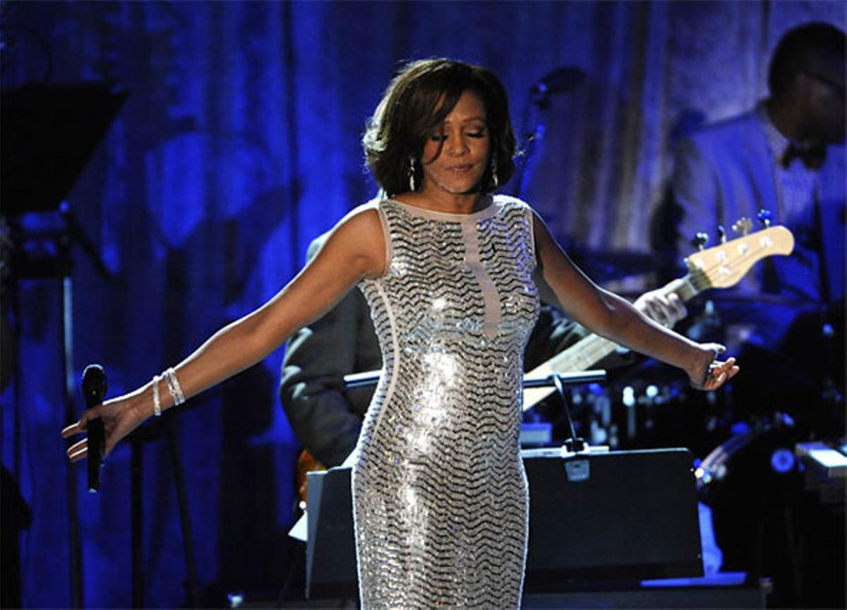 Whitney Houston, en la gala de los premios Grammy, en Beverly Hills, justo hace un año.