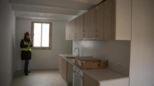Imagen de archivo de una cocina de un edificio de 'covivienda' de Barcelona