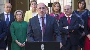 Pedro Antonio Sánchez ha presentado esta mañana su dimisión al frente del gobierno regional.