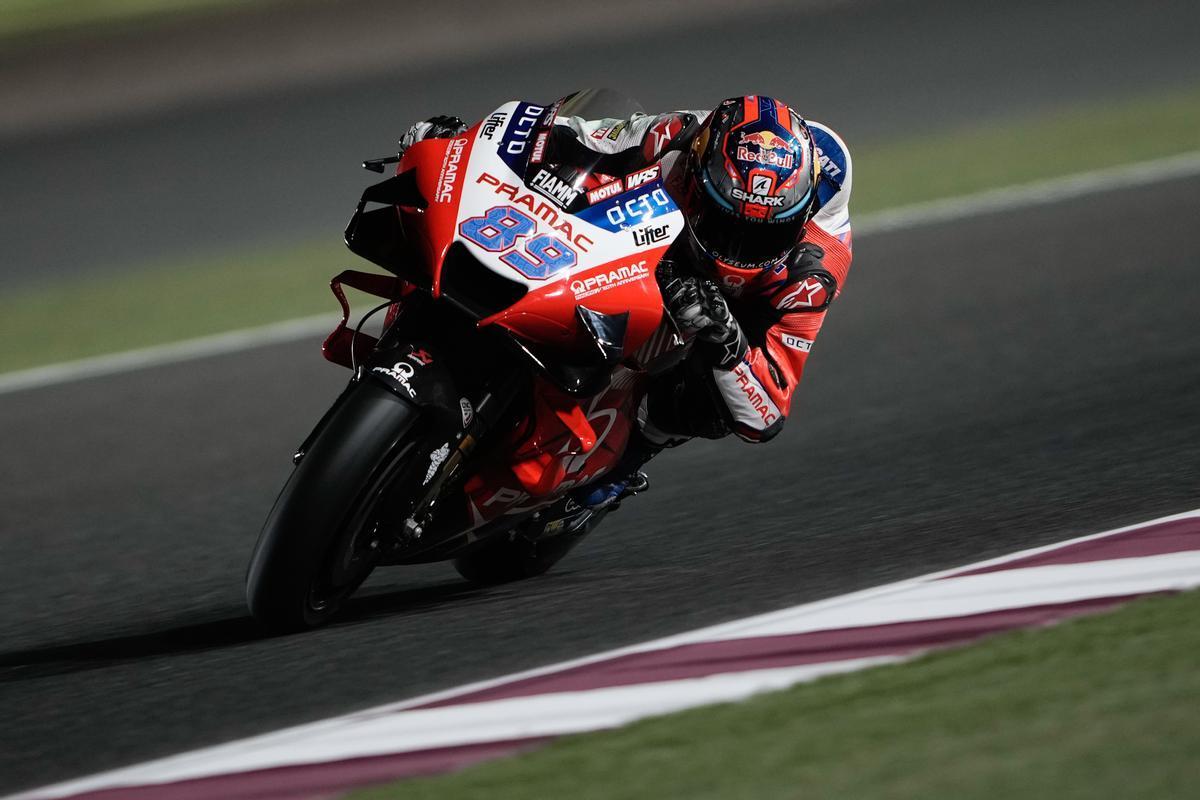 El madrileño Jorge Martin (Ducati) ha logrado, hoy, la 'pole' en Doha.