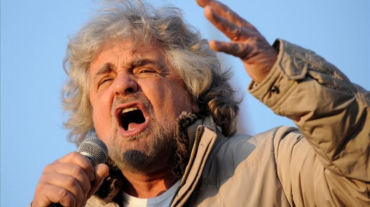 Grillo, en un acto electoral en Turín, en una imagen de archivo.