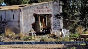 El lugar donde fueron encontrados los cuerpos enterrados de los niños de Godella (Valencia).