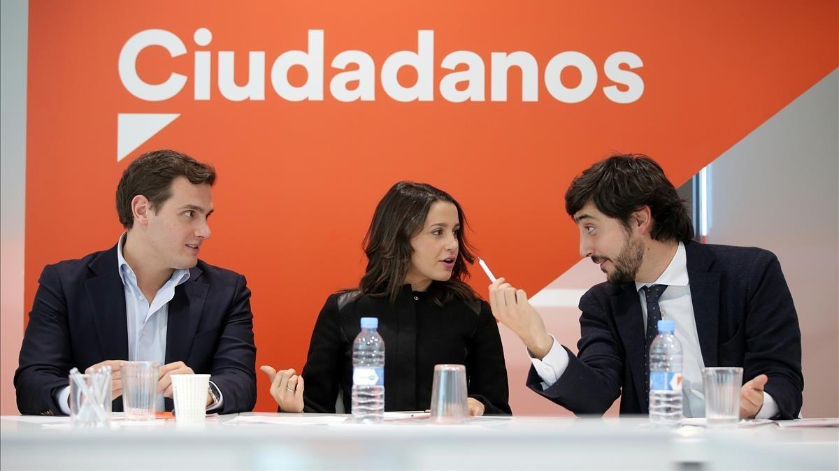 Reunión de la ejecutiva nacional de Ciudadanos.