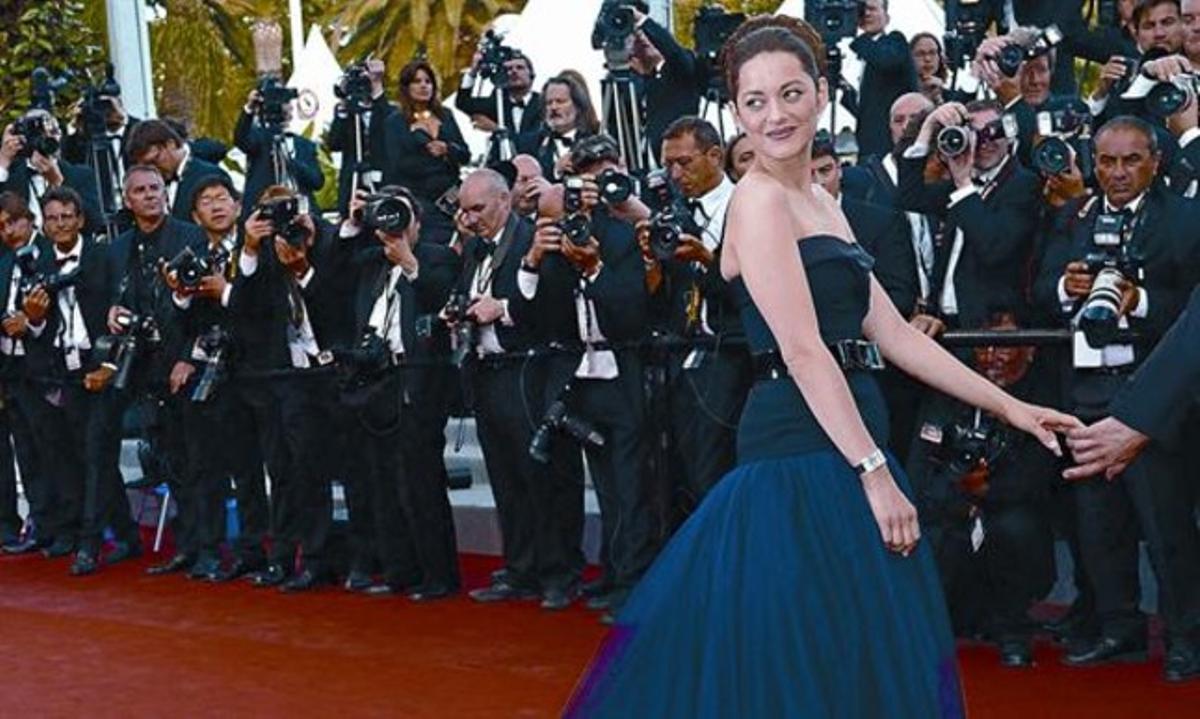 La actriz francesa Marion Cotillard, ayer, en la alfombra roja del Festival de Cannes.
