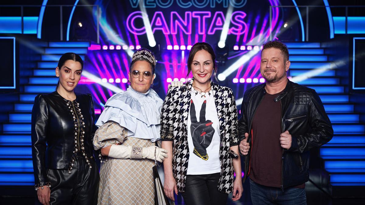 Ruth Lorenzo, Josie, Ana Milán y El Monaguillo, asesores del programa 'Veo cómo cantas'.
