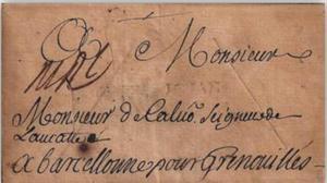 Carta desinfectada por Correos durante una pandemia.