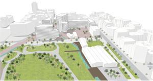 Plan para ordenar el ámbito montaña de la plaza de les Glòries