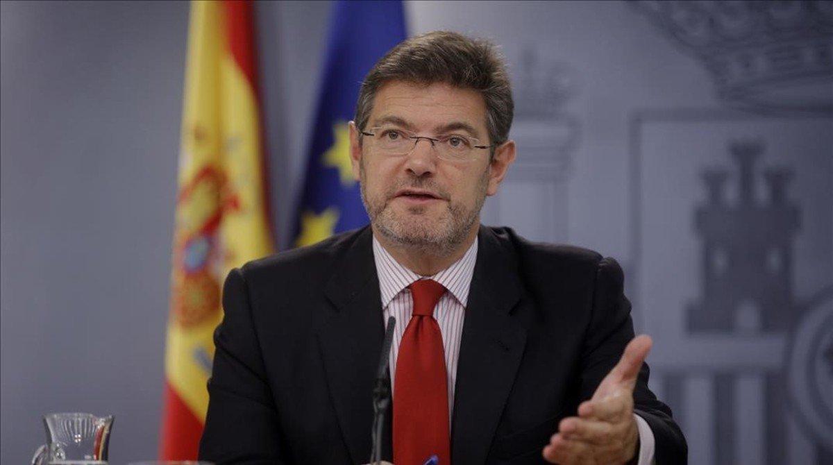 El ministro de Justicia, Rafael Catalá, en la Moncloa.