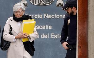 La abogada Olga Tubau, el pasado mes de enero, en la Audiencia Nacional, donde se celebraba el juicio contra Josep Lluis Trapero.