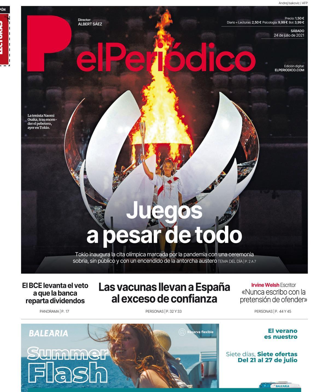 La portada de EL PERIÓDICO del 24 de julio de 2021