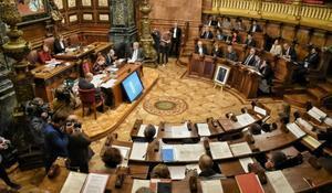 un pleno del Ayuntamiento de Barcelona.