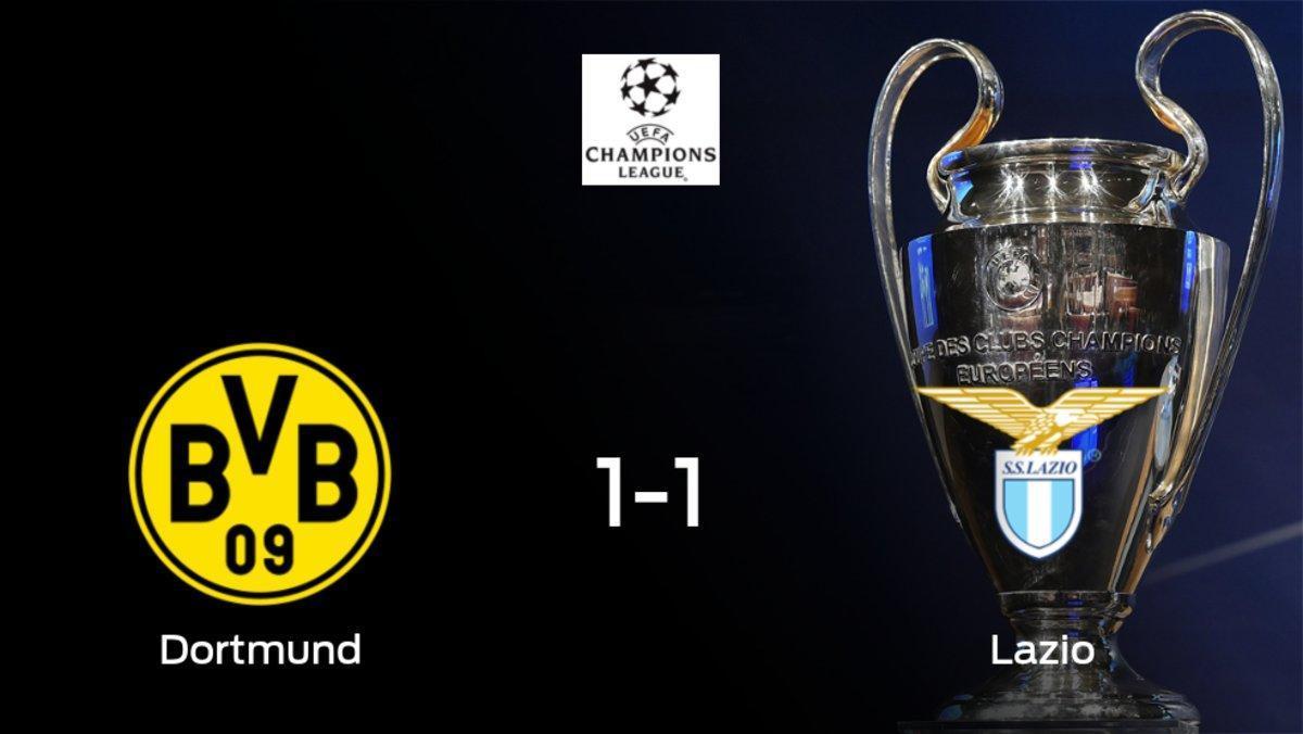 El Borussia Dortmund y la Lazio se reparten los puntos tras su empate a uno