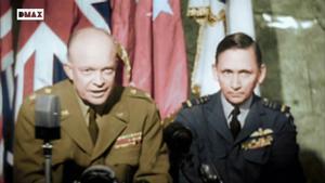 Imágenes del documental'Segunda guerra mundial en color', en el que diversas personalidades firman el tratado que pone fin a la contienda.