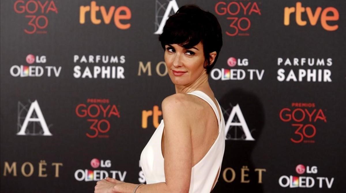 Una imagende archivo de Paz Vega, en la pasada edición de los Premios Goya.