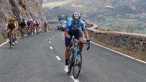 Alejandro Valverde, en pleno ataque.