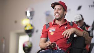El itaiiano Andrea Dovizioso (Ducati),en la conferencia de prensa de hoy en San Marino.