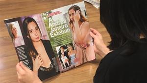 Reportaje de Andrea Janeiro Esteban en 'Lecturas' el día de su 18ª cumpleaños
