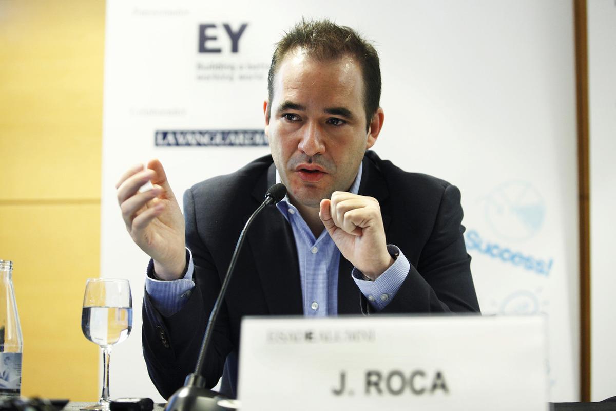 Jacinto Roca, consejero delegado de Wuaki.tv, durante su intervención en ESADE.