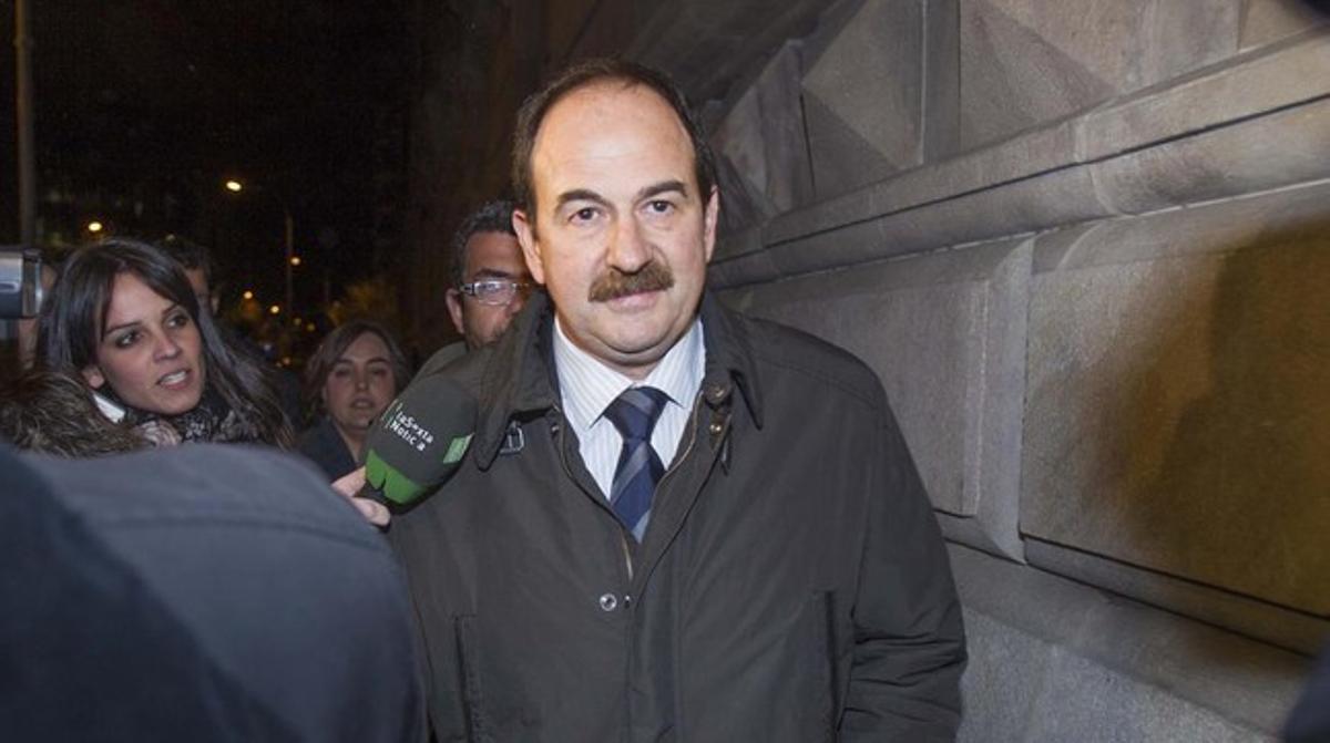 El diputado de CiU y exalcalde de Lloret, Xavier Crespo, tras declarar en el TSJC durante la instrucción.