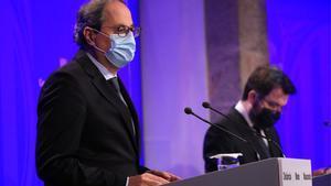 Catalunya invertirá 31.765 millones en el plan de reactivación económica. En la foto, el 'president' Quim Torra.