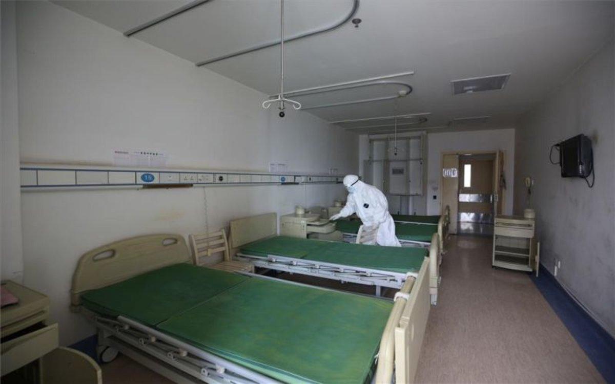Un hospital deWuhan, China, foco del coronavirus.
