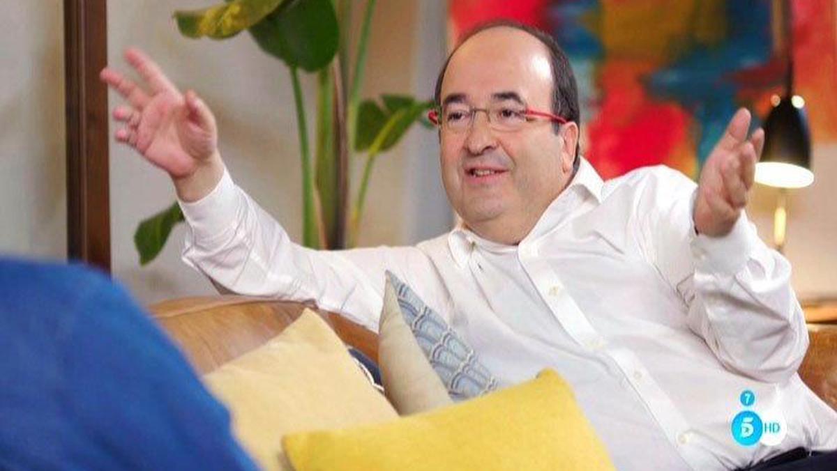 Miquel Iceta, con Bertín Osborne, en 'Mi casa es la tuya' (Tele5).